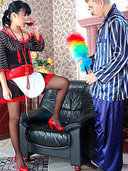 Barbara&Patrick having a pantyhose romance