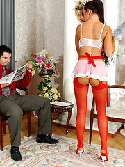 Deborah&Adam hot stockings duo