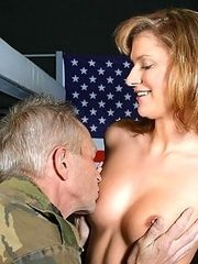 Senior soldier fucking girl