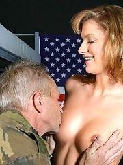 Senior soldier fucking girl