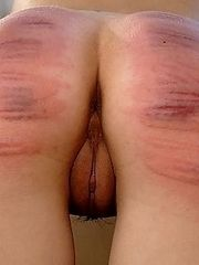 2 girls brutally caned to tears - severe stripe marks