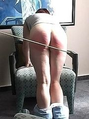 Red haired slut caned and shamed