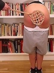 Welted with the carpet beater in the library