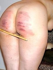 Severe caning punishment for pretty girl in tears - hot stripes