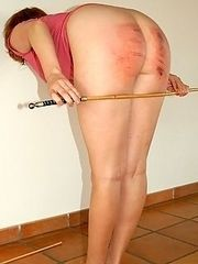 Humiliating corner time after brutal caning of young miss lovely