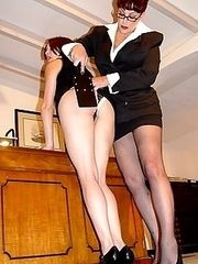 Red head lovely in naked caning onslaught - burning red buttocks