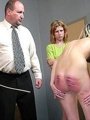 Filthy girl caught wanking in the bedroom - hard otk spankings and severe caning