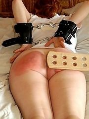 Hot Redhead is bound,paddled and humiliated