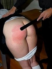 Shameful spankings with the belt for a young girl
