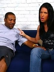 MILF makes son watch as she sucks & fucks black