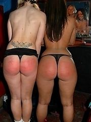 More spanking fun with two raunchy chicks