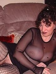 Old big titty babe in lingerie