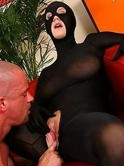 Michaela is such a slut She absolutely loves wearing tight spandex suits that are caressing her female curves