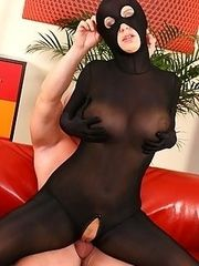 Michaela her new black catsuit she looks so hot She even wears this hot piece while having sex as there is a hole just at the place where her wet lovehole is