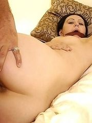 Naughty brunette gets punished with rough sex by pissed off husband