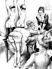 Young naughty girls get a good flogging