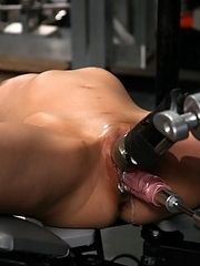 Amateur machine fucked,dripping wet pussy that creams all over the rubber cock and steel machines. She fucks the Sybian until she can take no more.