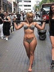 Spanish beauty Yillie Fresh is taken to the streets to be humiliated