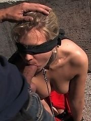 Hot European blond fucked and humiliated,big cock blow job in public,tourists laughing at her.