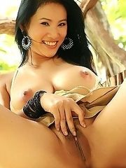 Busty Nancy Ho Outdoor Masturbation
