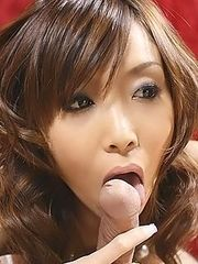 AV Idol Japanese Yui sucking the hard cock