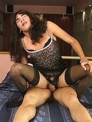 Submissive crossdresser acts really badly
