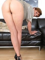 Long legged milf babe