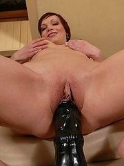 Tina destroys pussy with dildo