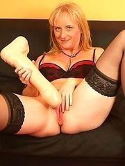 Monika using two different dildo