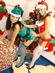 Melanie and Carla getting excited for Christmas