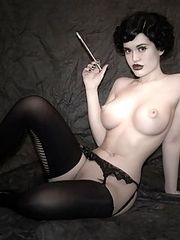 Smoking Hot Pin Up Model