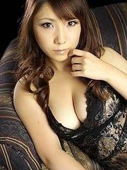 Busty Momo Aizawa in sexy lingerie
