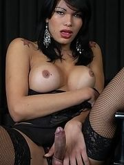 Michelle is one,tall,exotic tranny who just loves to get fucked by big dicks. Good thing for her,we had just the cock candidate to pay her a little visit. Watch this horny stud fuck this nasty tranny like its his last fuck on earth.
