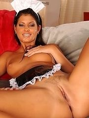 Maid who rather fuck with guest
