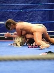 Nude fight in ring