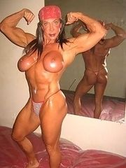 Sexy muscular women from USA.