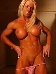 Muscle woman,hot as fire,making men nervous.