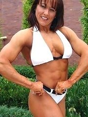 Muscular actresses and ordinary women.