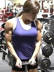 Girls and women with muscles.