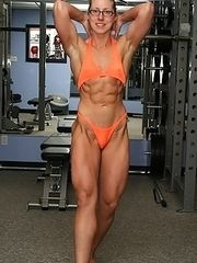 Sexy nude muscle bodybuilding women.