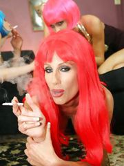 Group - Jessica Jaymes and Angel Long and Puma Swede are sexy smokers