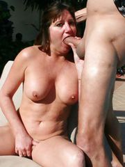 HOT MILF gets her a BIG COCK and ASS LICK