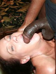 OLD GRANNY fucking a HUGE Black Cock