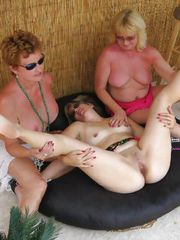 3 Grannies getting NASTY at public bar