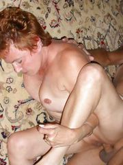 GRANNY gets her some BIG COCK