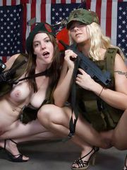 HOT lesbian teens with weapons