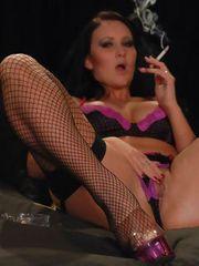 Amber Leigh loves stockings