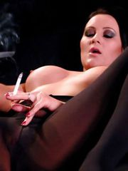 Amber Leigh smoking nylon slut
