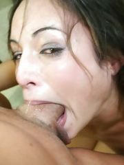 Amber Rayne swallows cock