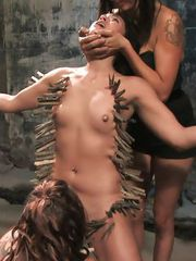ade Indica is bound helpless and used by a roomful of horny men and women